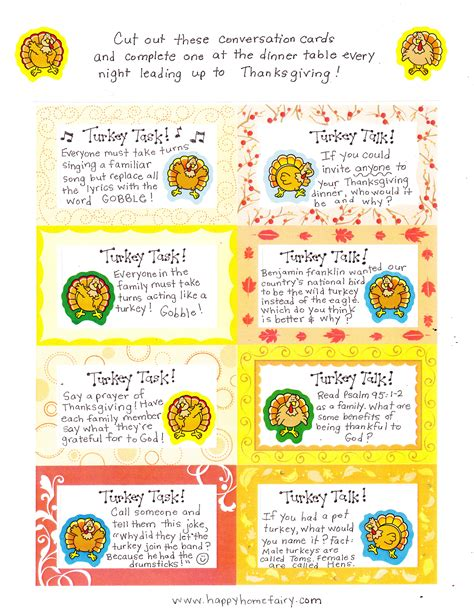 printable conversation cards template thanksgiving conversation cards free printables happy
