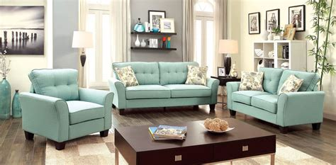 fabric living room furniture claire blue fabric living room set from furniture of