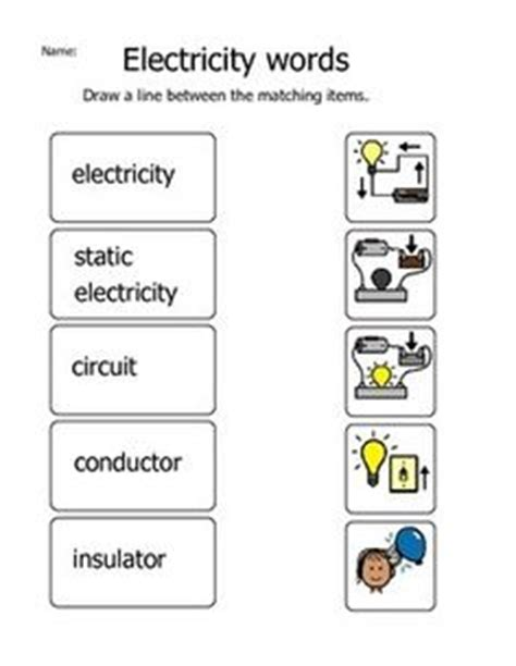 electrical conductors and insulators worksheet electricity conductors or insulators cut and paste sorting and matching activity