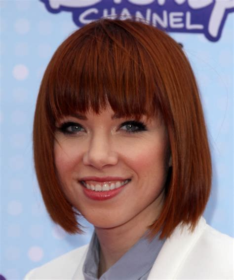 carly hair new cuts carly rae jepsen medium straight formal bob hairstyle with