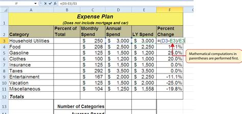 section 7 expenses calculator mathematical computations