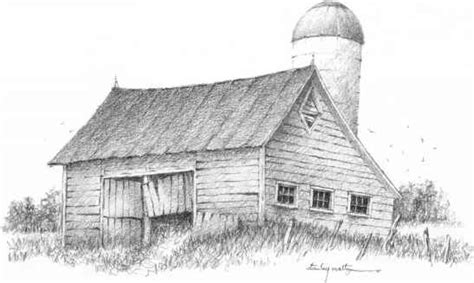scheune zeichnen barns grass rocks and water drawing nature joshua nava