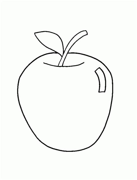 apple fruit coloring page apple fruit image coloring home