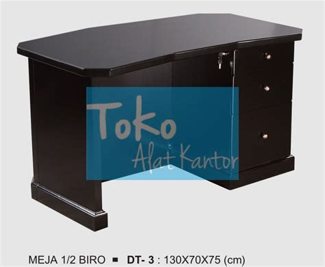 Meja Setengah Biro meja 1 2 donati biro dt 3 melamic series furniture