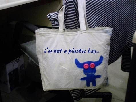 Win A Im Not A Plastic Bag by I M Not A Plastic Bag 183 A Tote Bag 183 Sewing On Cut Out