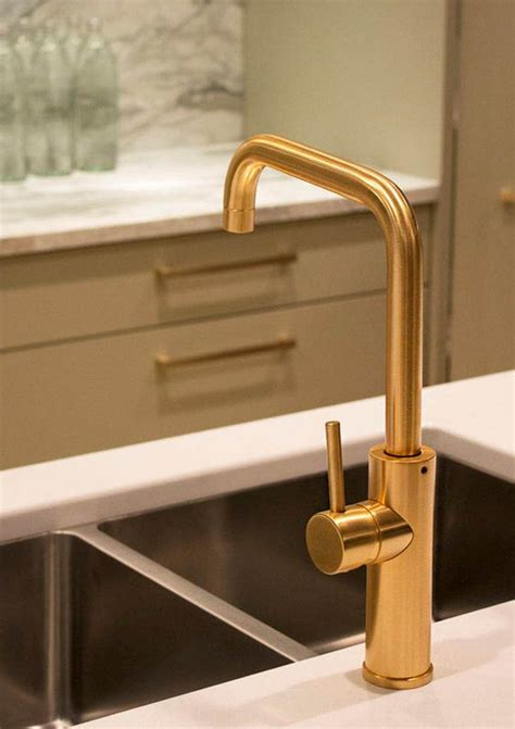 gold kitchen faucets aquabrass master chef kitchen faucet in a brushed gold