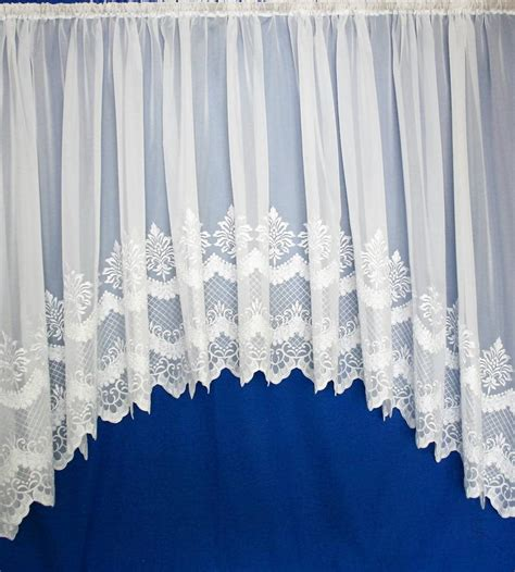 embroidered voile curtains uk cambridge white embroidered voile jardiniere net curtain