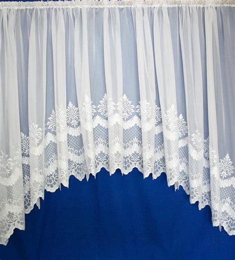 jardiniere net curtains uk cambridge white embroidered voile jardiniere net curtain
