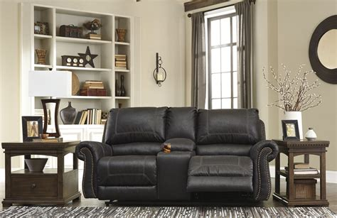 milhaven reclining sofa reviews milhaven black reclining console loveseat from