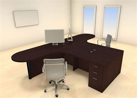 Office Desk For Two Details About Two Persons Modern Executive Office