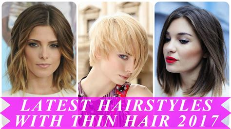 Womens Hairstyles 2017 For Thin Hair by Hairstyles For With Thin Hair 2017