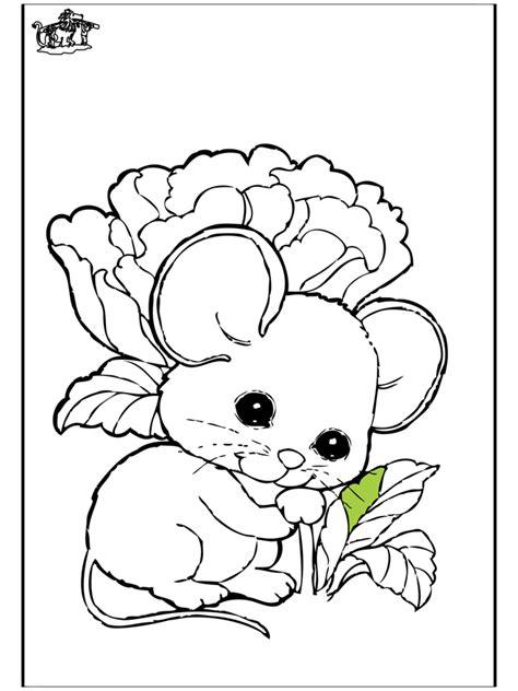 muis 1 kleurplaten knaagdieren