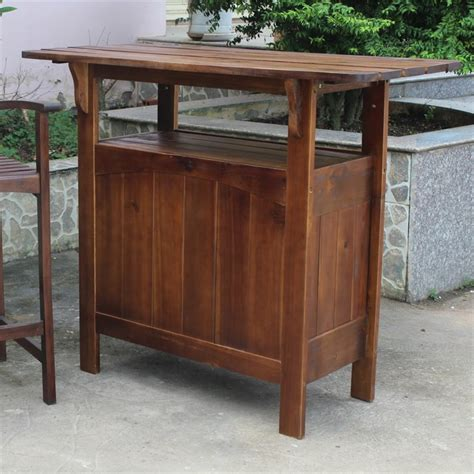 Bar Patio Table Outdoor Adirondack Patio Bar Table Vf 4107