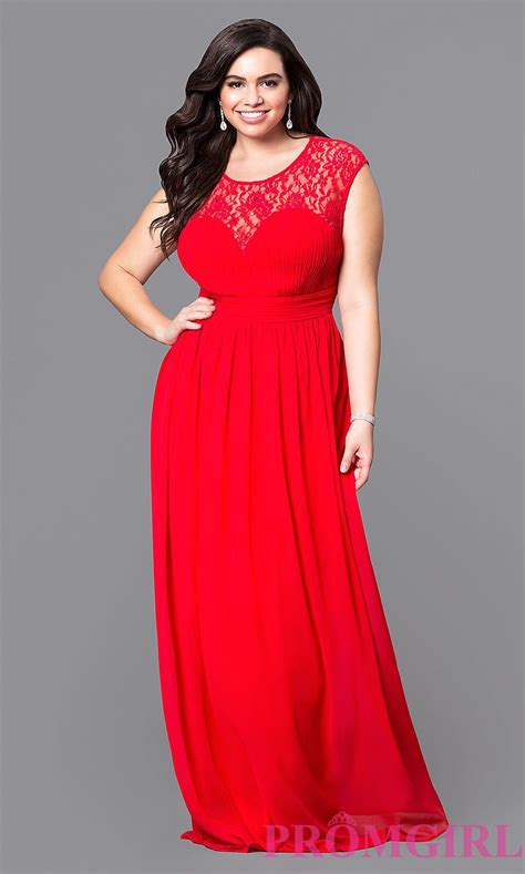 Plus Size Of The Dresses by Open Back Plus Size Prom Dress With Lace Promgirl