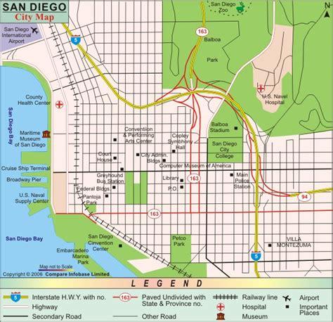 usa map states san diego san diego map and san diego satellite image