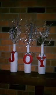 diy wine bottle christmas decor holidays pinterest