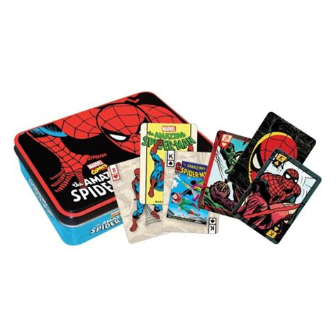 Playing Cards Gift Ideas - spiderman playing card tin set gaggifts com