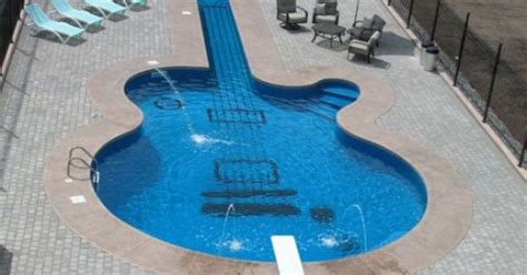 guitar shaped swimming pool guitar shaped swimming pool for the home pinterest