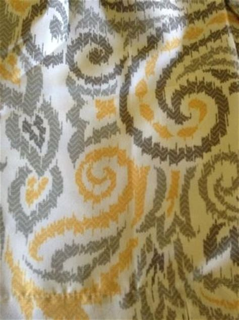 threshold yellow paisley curtains threshold yellow gray paisley shower curtain grey new target