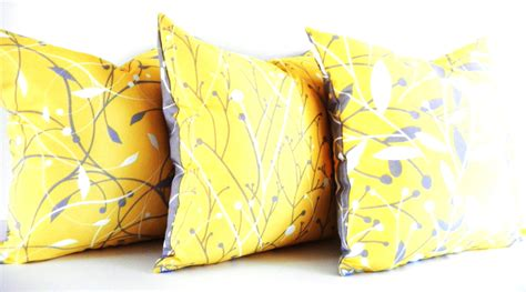yellow couch pillows yellow pillows gray pillows decorative pillows by