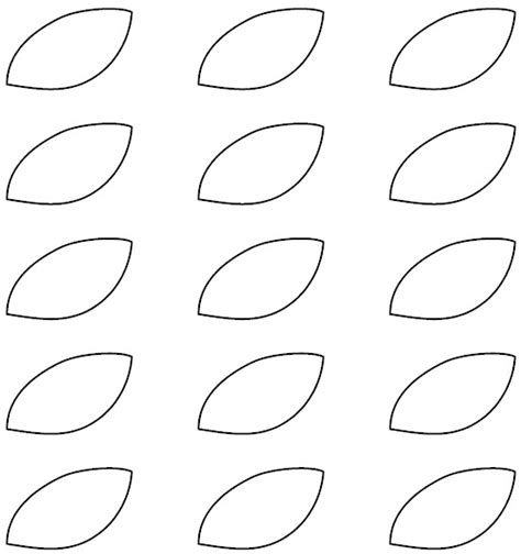leaf pattern sheets 8 best images of printable flower template leaf leaves