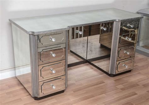 Vanity Tables With Drawers by Superb Mirrored Dressing Table Or Vanity With Nine Drawers