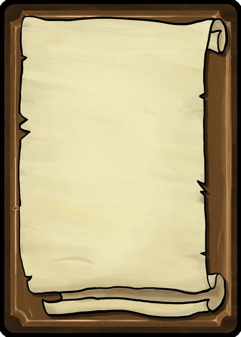Playing Cards Template Scroll Front By Toomanypenguins On Deviantart Scroll Template