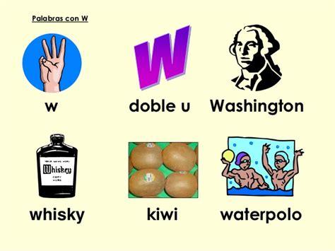 imagenes y palabras con w repaso lectura y escritura 2o grado