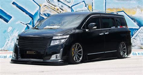 nissan quest rims bagged nissan quest on vossen wheels could start a new trend