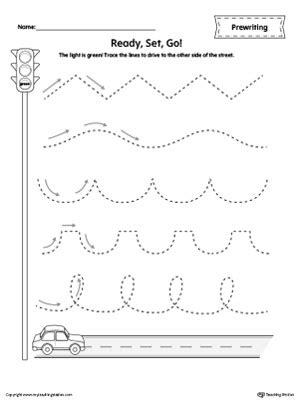 pattern writing for nursery pdf car racing line tracing prewriting worksheet free cars