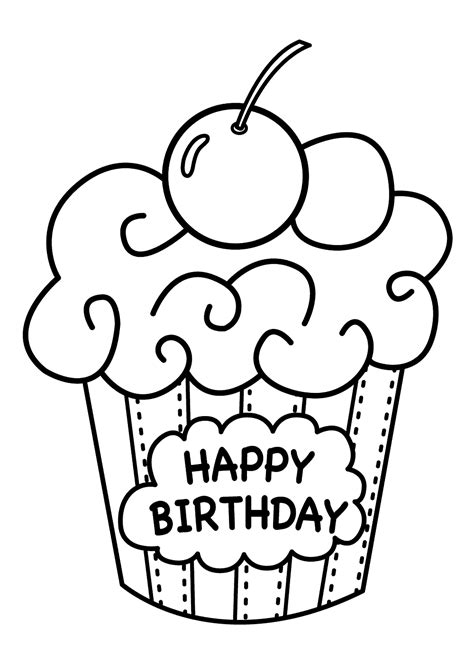 Happy Birthday Pages To Color 25 free printable happy birthday coloring pages