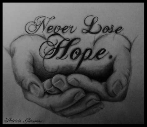 never lose hope tattoo the king riderz never lose