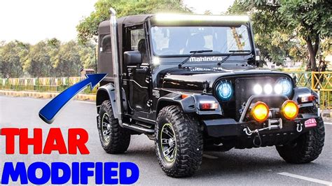 thar jeep white top 5 modified mahindra thar best customized