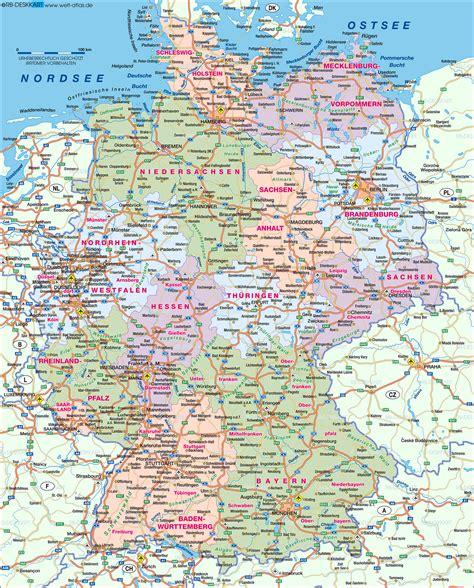 karta deutschland landkarte deutschland germany