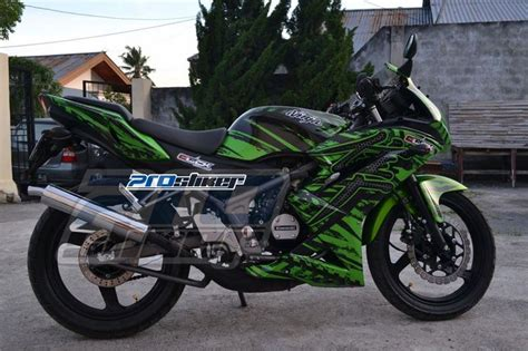 Jual Striping Modif 150 Rr New Motif Marka Prostiker modifikasi 150 rr new hijau stiker motor motif marka hayabusa green prostiker stiker