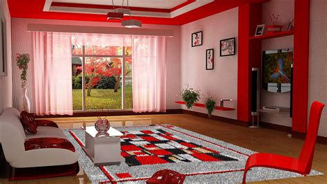 red home decor ideas delightful interior decorating for small living room decor