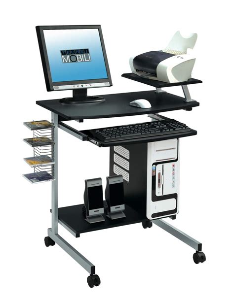 Compact Laptop Desk Techni Mobli Compact Computer Desk In Graphite Beyond Stores