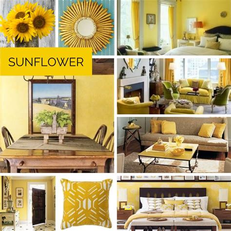 sunflower inspired home decor color yellow home decor