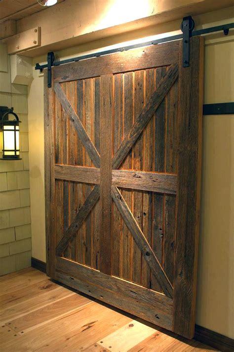 barn door slabs slab interior rustic room divider wood