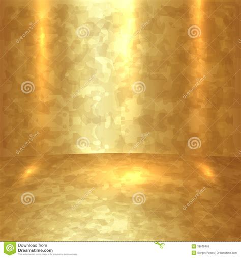 Interior Design Web App vector abstract golden room with gold floor and walls