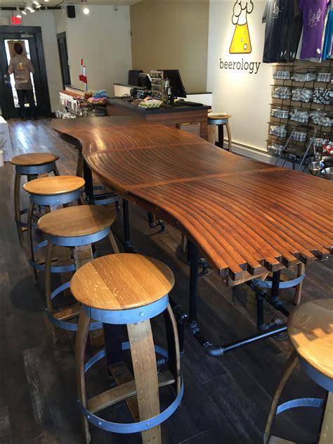 buy bar top buy a custom made barrel stave bar top kitchen counter