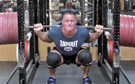 john cena bench john cena just set a massive new squatting record