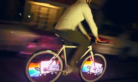 Olc Led Light Monkey Brown by Monkey Light Pro Allows Bike Riders To Screen Animation On