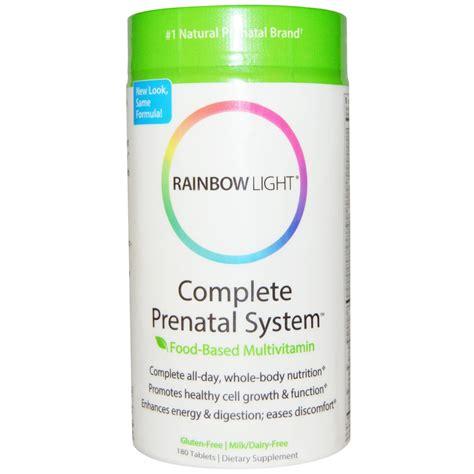 rainbow light prenatal vitamins rainbow light complete prenatal system food based
