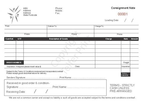 waset template format of consignment note smdlab invoice