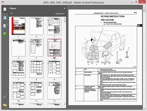 Toyota Tacoma All Models 1995 2008 Service Manual