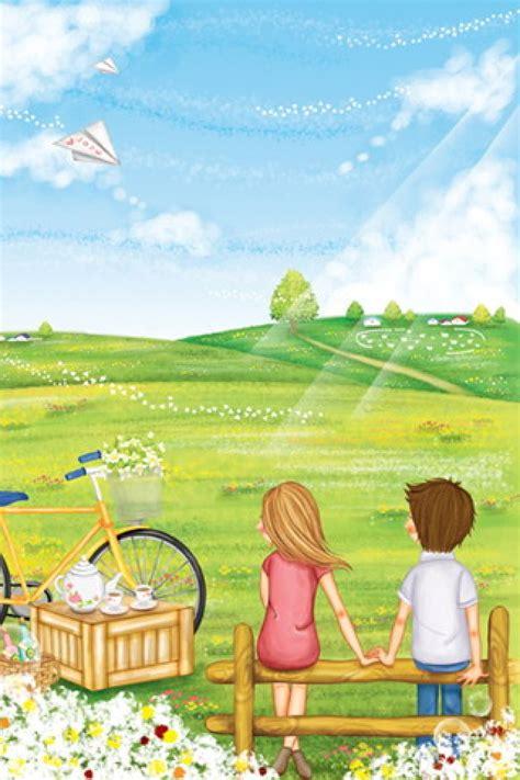 wallpaper cartoon romantic cute cartoon love couple wallpaper cliparts co