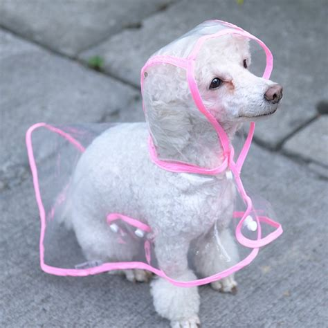 small raincoat raincoat pet clothing waterproof pet transparent raincoat light clothes small