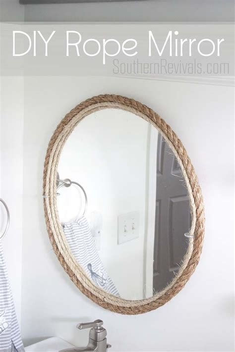 DIY Rope Mirror Tutorial   Nautical Style Bathroom Mirror   Southern Revivals