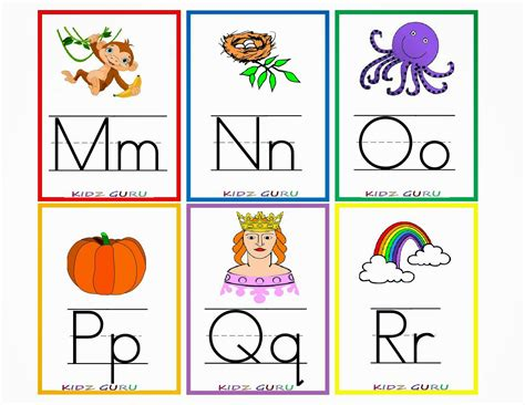 free printable alphabet flash card template kindergarten worksheets printable worksheets alphabet